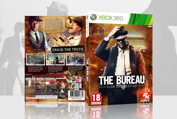 The bureau xcom declassified xbox 360 box art cover by for The bureau xbox 360