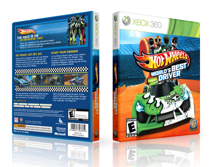 hot wheels world 39 s best driver xbox 360 box art cover by. Black Bedroom Furniture Sets. Home Design Ideas