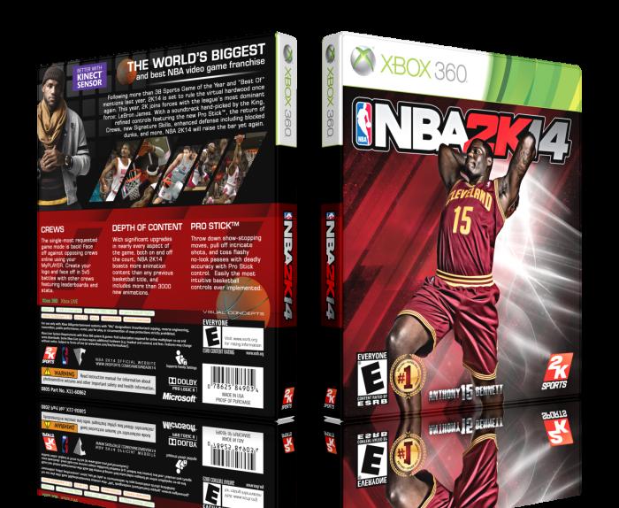 NBA 2K14 Xbox 360 Box Art Cover by LastLight