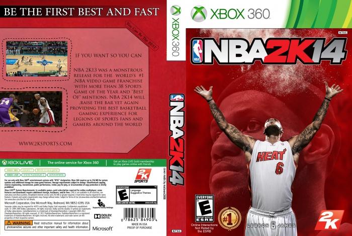 NBA 2K14 Xbox 360 Box Art Cover by malavan2000