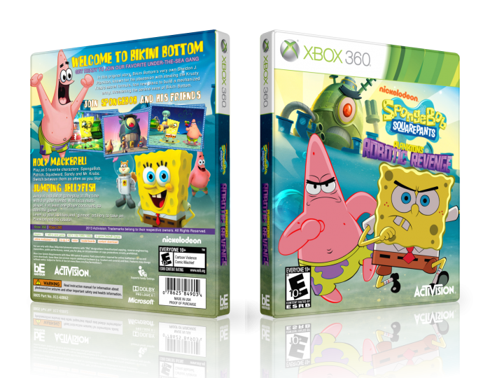 SpongeBob S.P.: Plankton's Robotic Revenge box art cover