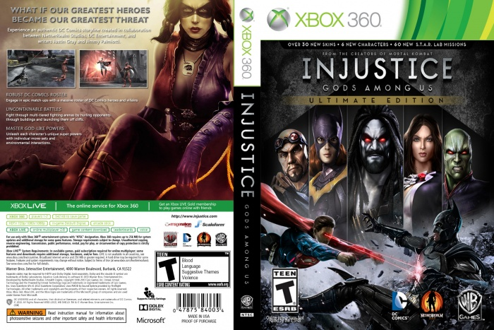 Injustice: Gods Among Us - Ultimate Edition box art cover