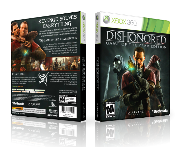 Dishonored: GOTY box art cover