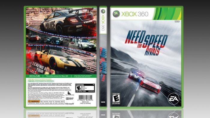 NEED FOR SPEED RIVALS Xbox 360 Box Art Cover by LOoOP