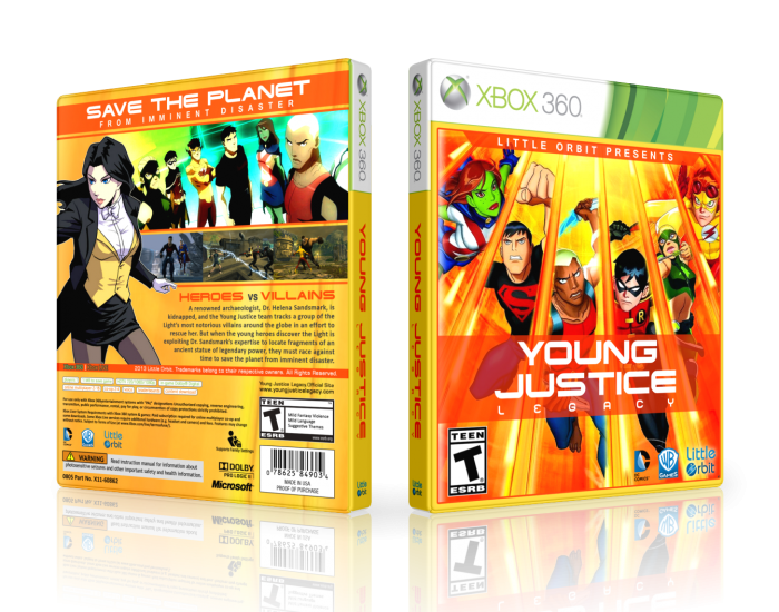Young Justice Legacy Xbox 360 Box Art Cover by LastLight