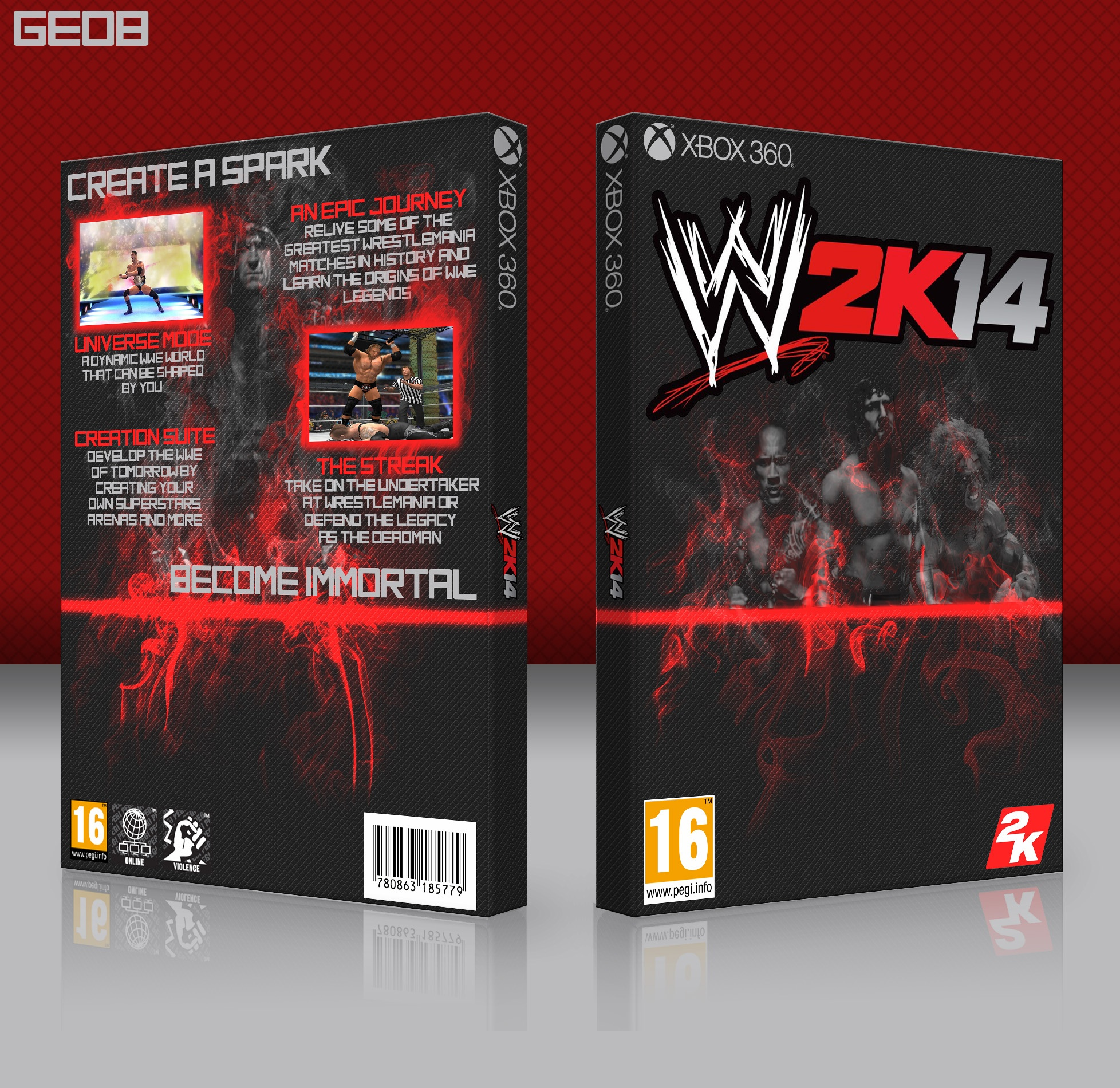 WWE 2K14 box cover