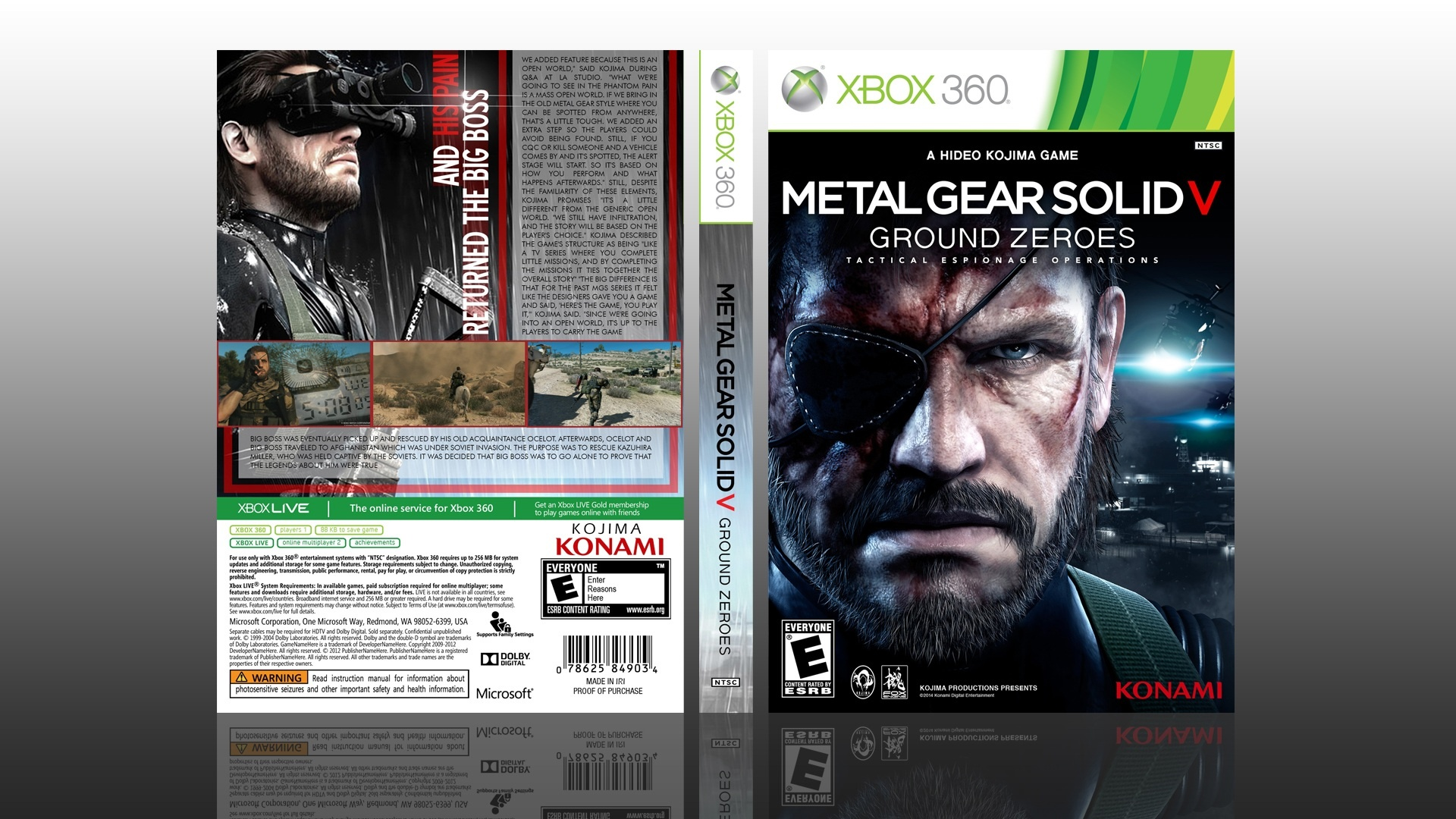 Metal Gear Solid V: Ground Zeroes box cover