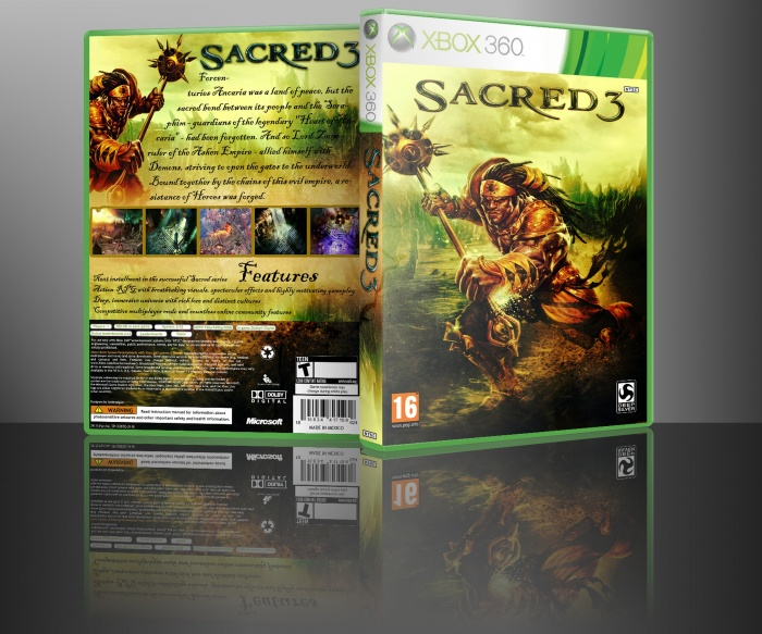 Sacred 3 box art cover