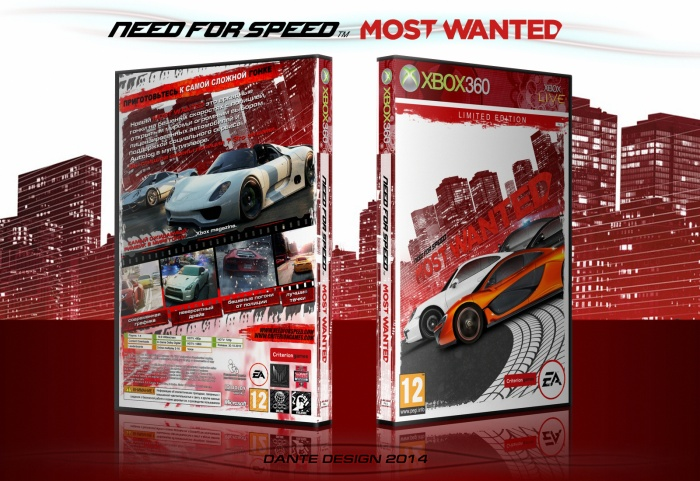 need for speed most wanted 2012 xbox 360 box art cover by dante design