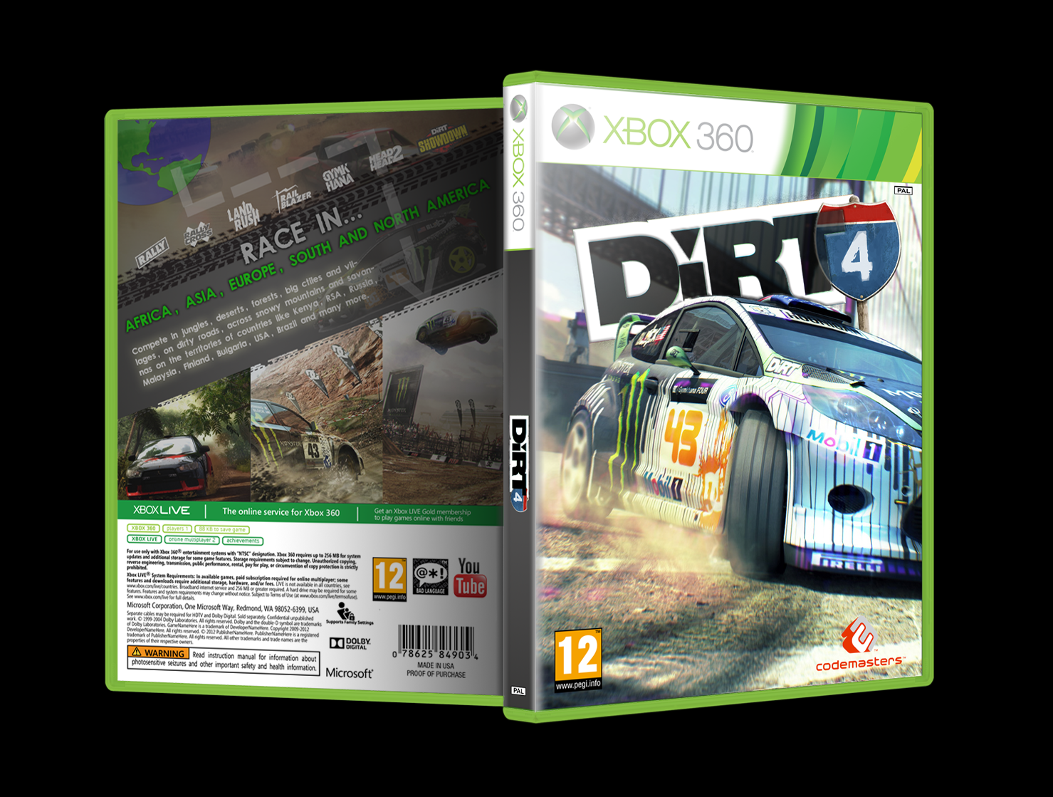 dirt 4 xbox 360 box art cover by slnd. Black Bedroom Furniture Sets. Home Design Ideas