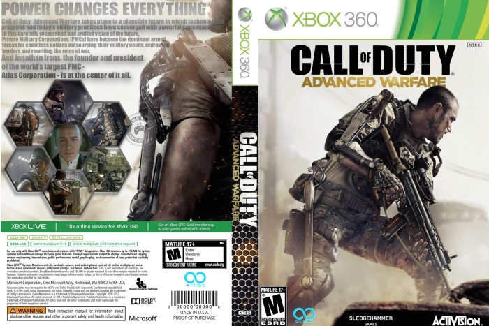 Call of Duty - Advanced Warfare Xbox 360 Box Art Cover by ...