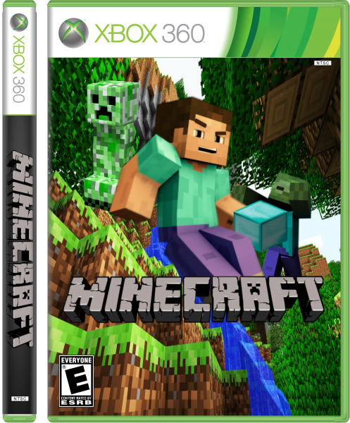 Xbox 360 Minecraft Cover Minecraft Xbox 360 Box...