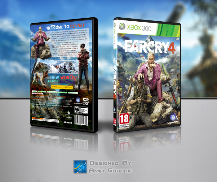 Far Cry 4 XBOX 360 COVER box art cover