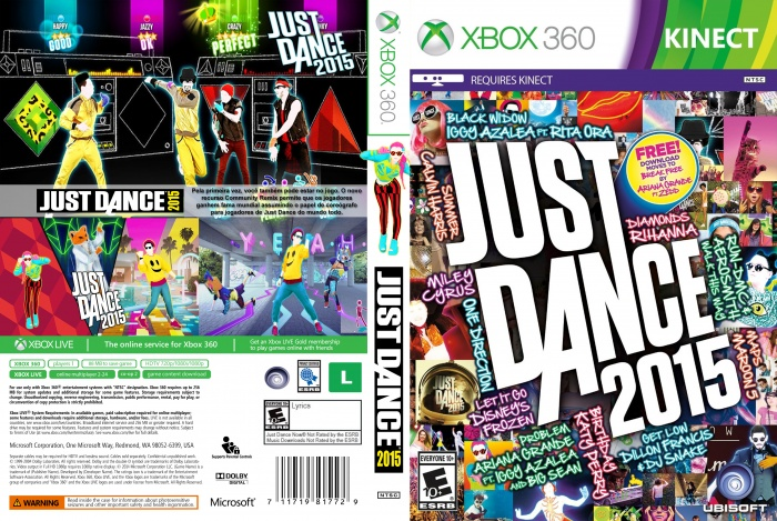 Just Dance Game For Xbox 360 : Just dance 2015 xbox 360 box art cover by lucasdelim2010