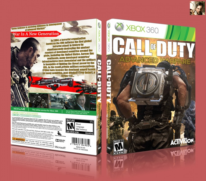 Call of Duty Advanced Warfare Xbox 360 Box Art Cover by C ...