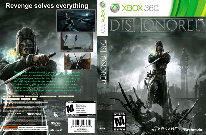 Book Cover Pictures Xbox : Dishonored xbox box art cover by sepinood