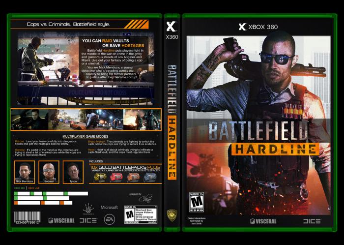 Battlefield HardLine box art cover