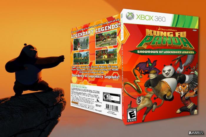 Kung Fu Panda  Showdown of Legendary Legends Xbox 360 Box Art Cover ... f11f218a3