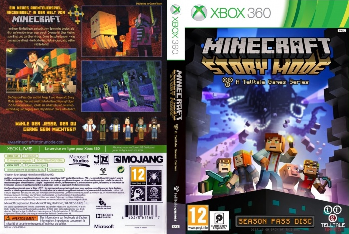 Minecraft Story Mode Xbox Box Art Cover By Juan - Minecraft pc mit xbox spielen