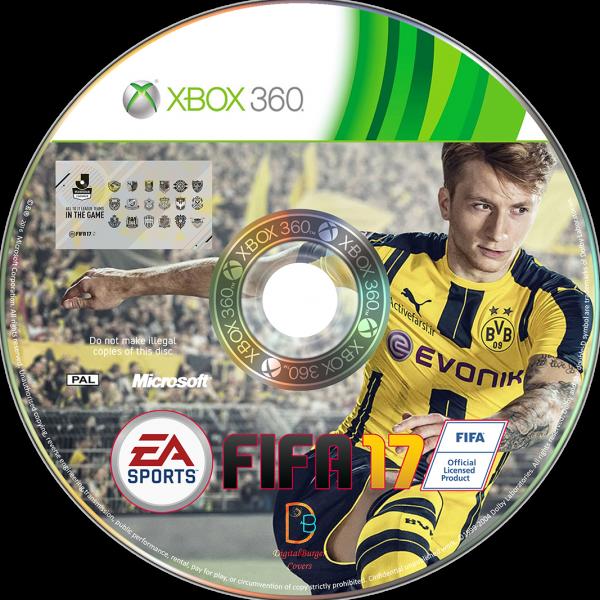 Fifa 17 XBOX DVD Cover Box Art Cover