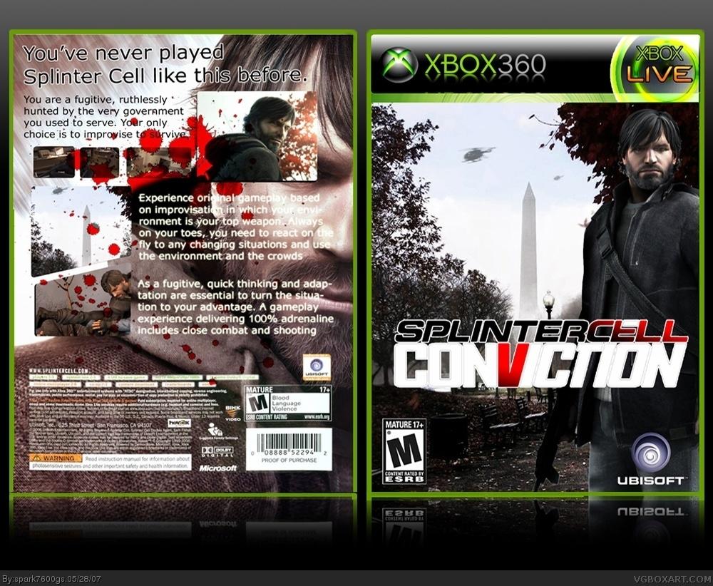 Tom Clancy S Splinter Cell Conviction Xbox 360 Box Art