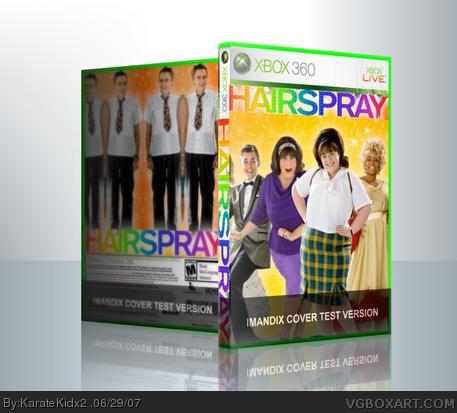 hairspray xbox 360 box art cover by karatekidx2226�162