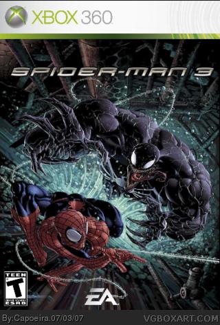 Spiderman 3 Xbox 360 Box Art Cover by Capoeira
