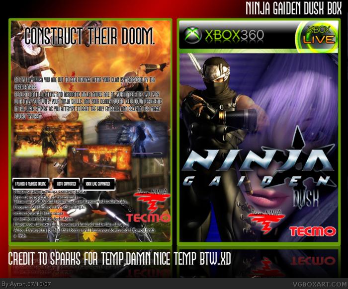 Ninja Gaiden Dusk Xbox 360 Box Art Cover By Ayron