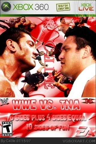 WWE vs TNA Xbox 360 Box Art Cover by C4life