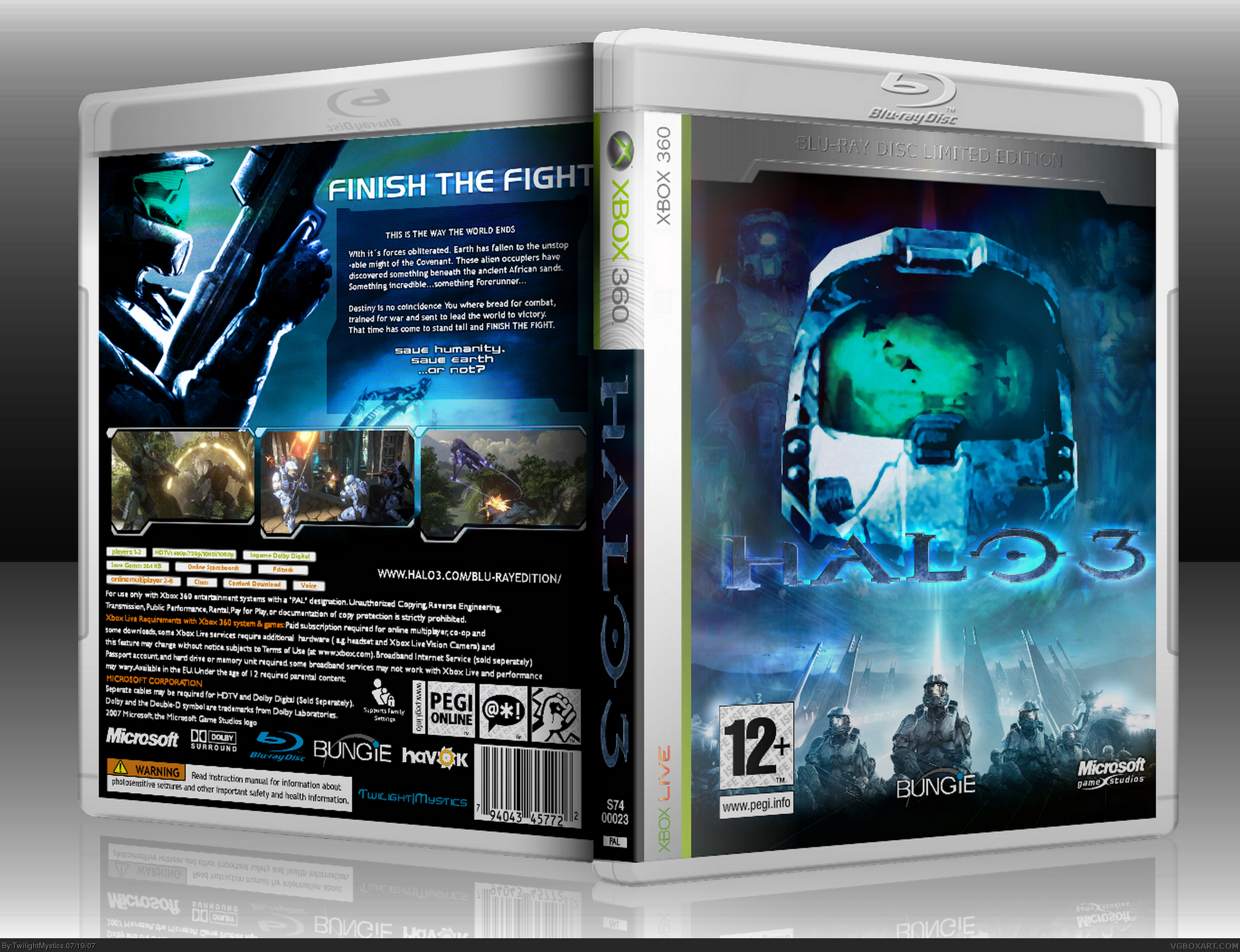 Halo 3  (Blu-ray Limited Edition) box cover