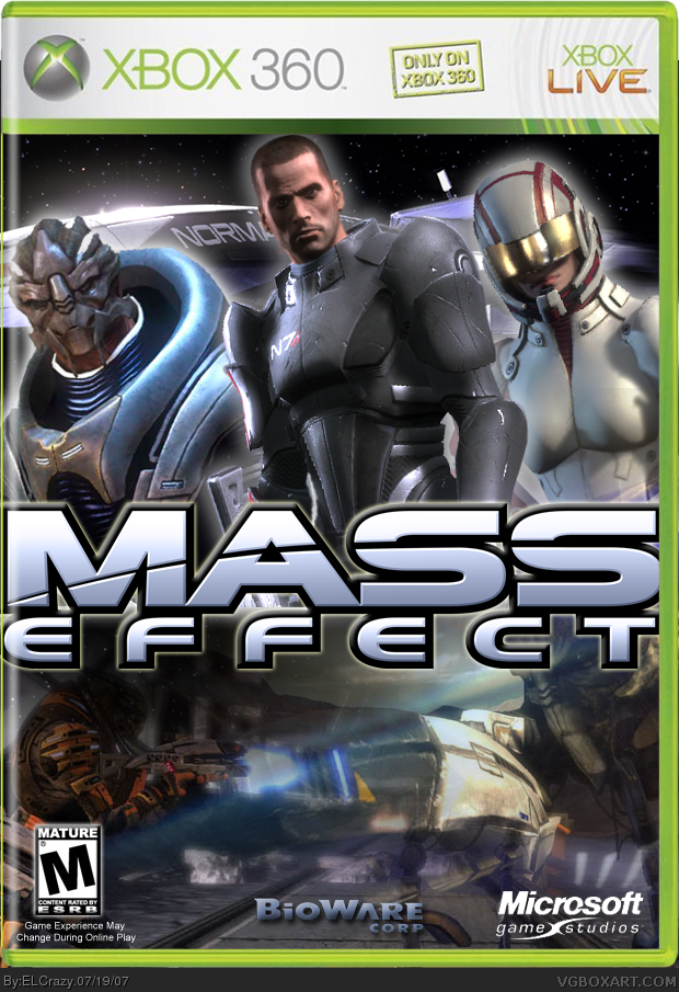 Mass Effect Xbox 360 Box Art Cover by ELCrazy
