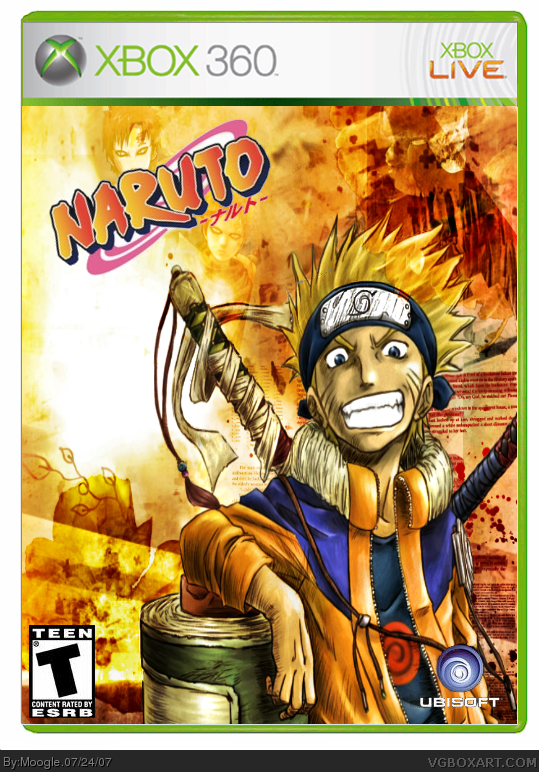 Naruto Rise Of A Ninja Xbox 360 Box Art Cover By Moogle
