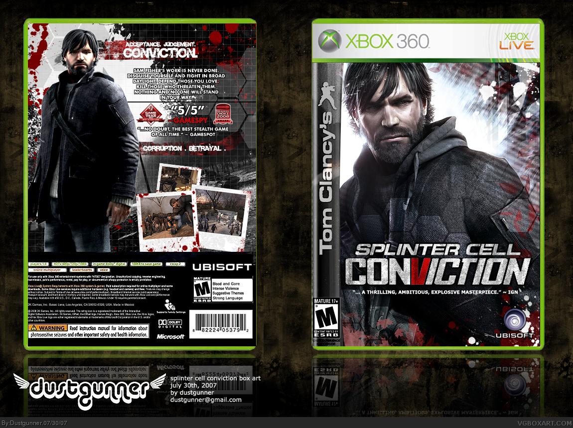 Book Cover Pictures Xbox : Tom clancy s splinter cell conviction xbox box art