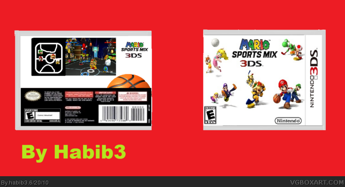 mario sports mix 3ds nintendo 3ds box art cover by habib3. Black Bedroom Furniture Sets. Home Design Ideas