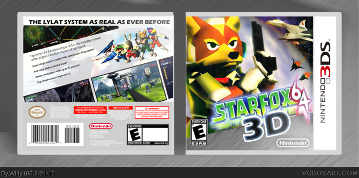 Star Fox 64 3d Nintendo 3ds Box Art Cover By Willy105