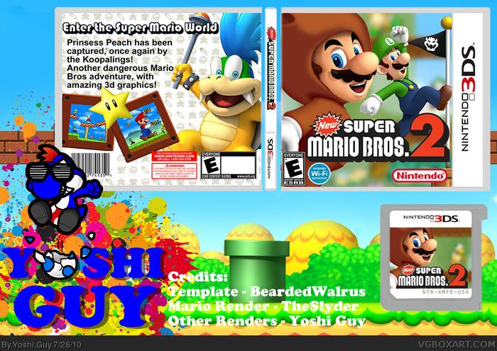 New Super Mario Bros 2 Nintendo 3ds Box Art Cover By Yoshi Guy