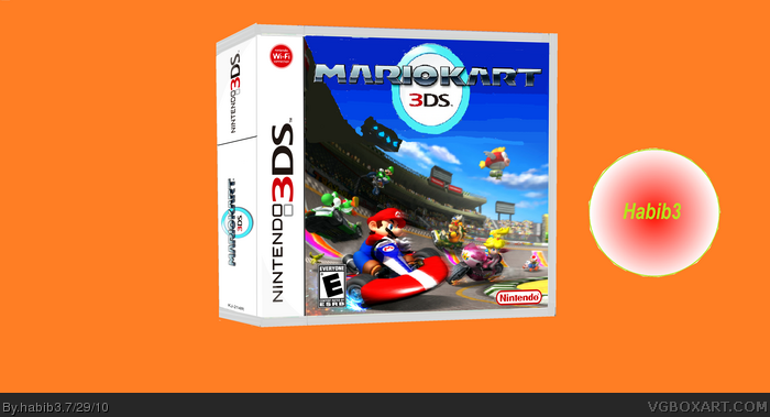 mario kart 3ds nintendo 3ds box art cover by habib3. Black Bedroom Furniture Sets. Home Design Ideas