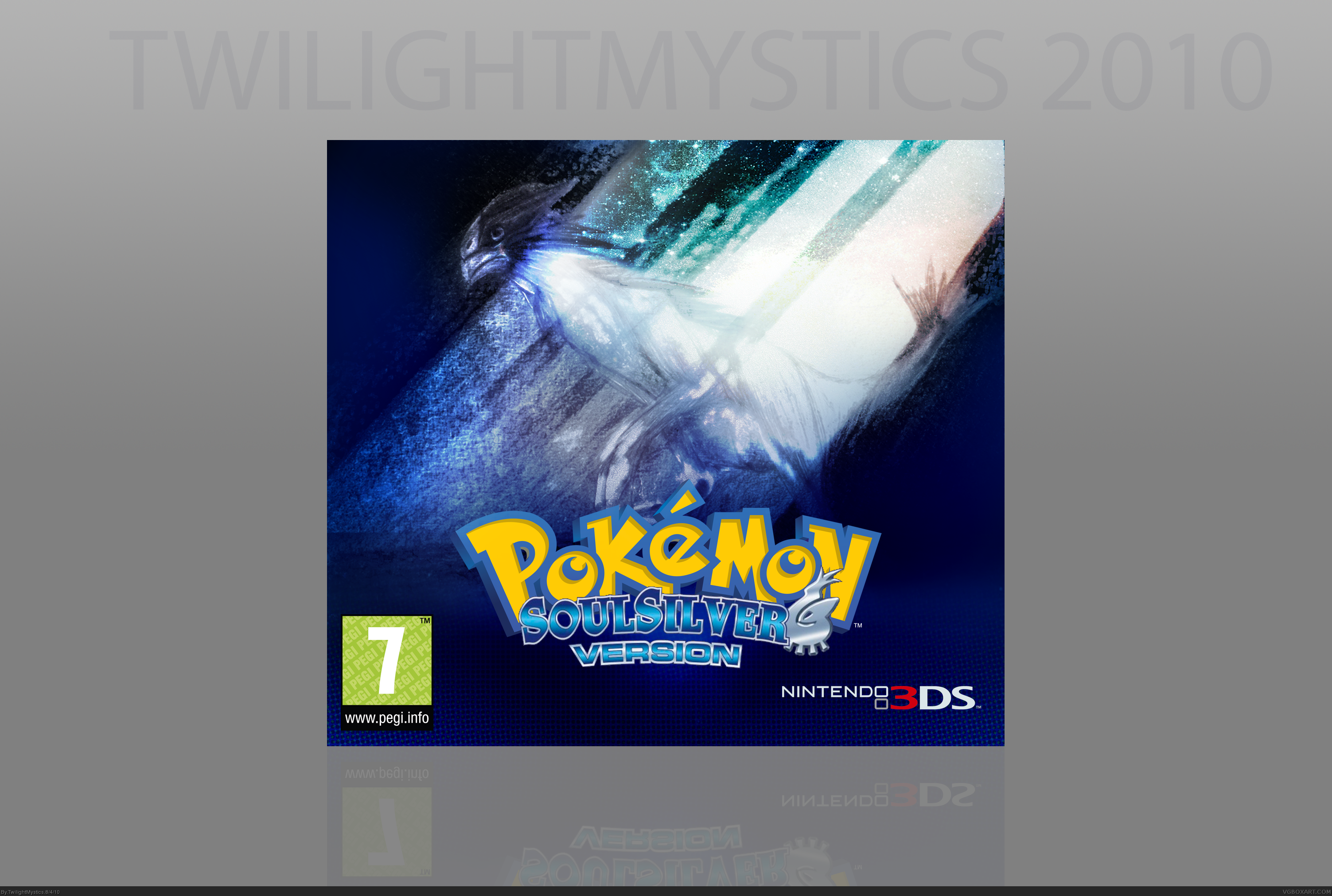 Pok 233 Mon Soul Silver Box Art Cover