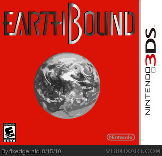 earthbound nintendo 3ds box art cover by fixedgerald