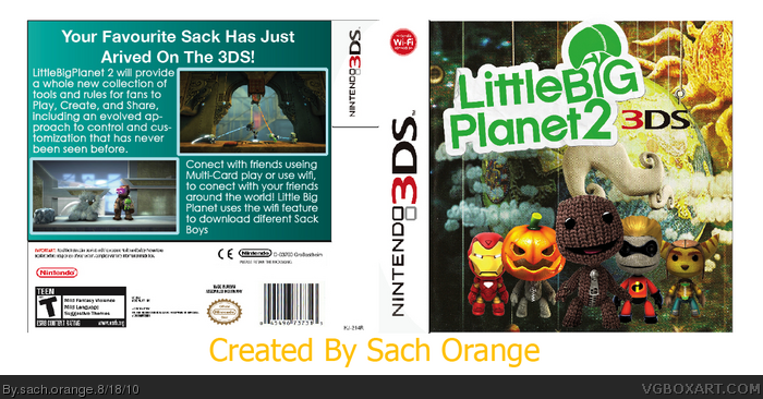 Little Big Planet 2-3DS box art cover