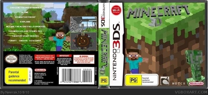 Nintendo 3DS » Minecraft 3D Box Cover