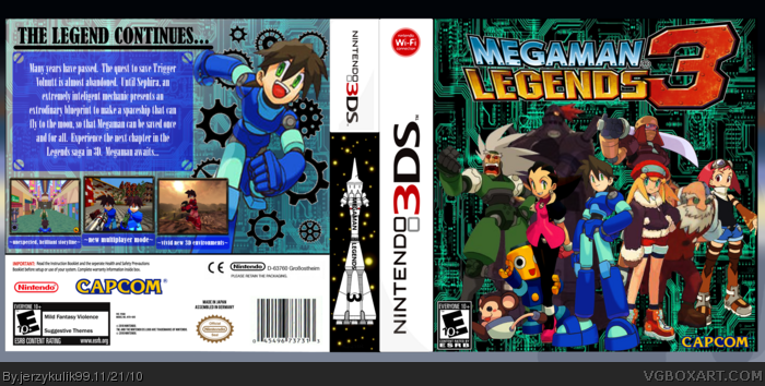 Megaman Legends 3 box art cover