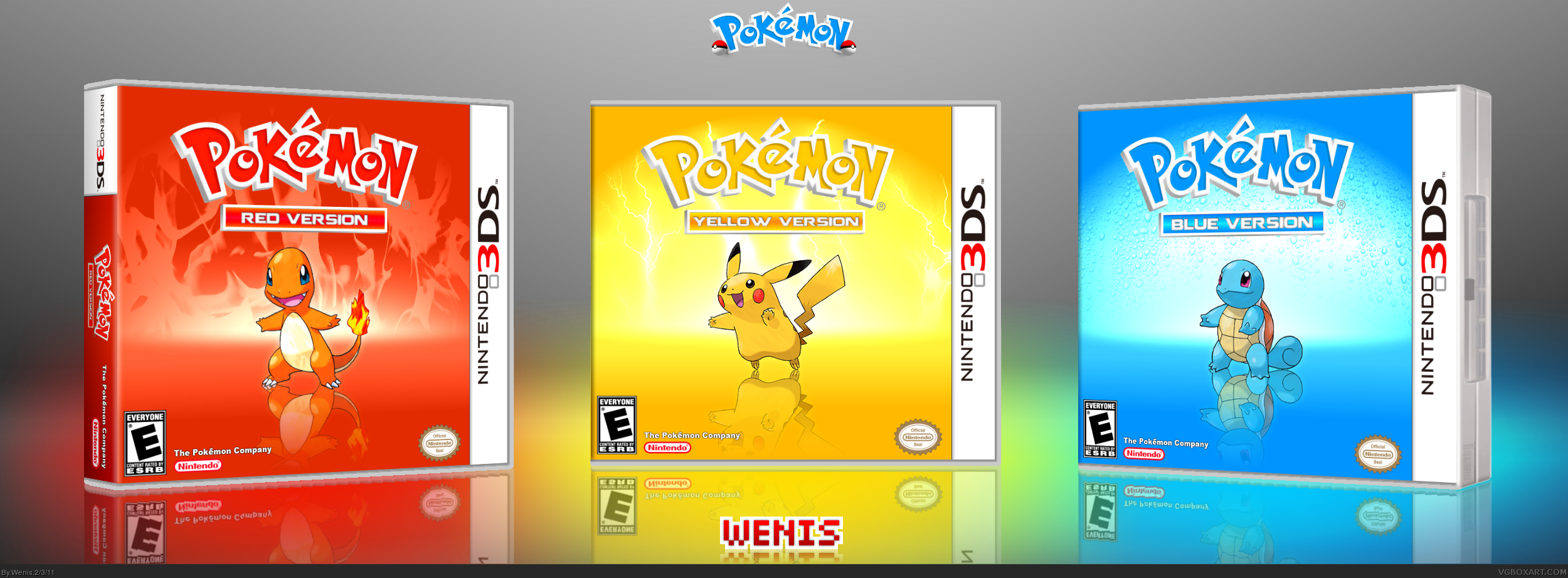 Viewing Full Size Pokemon Red Yellow Blue Box Cover