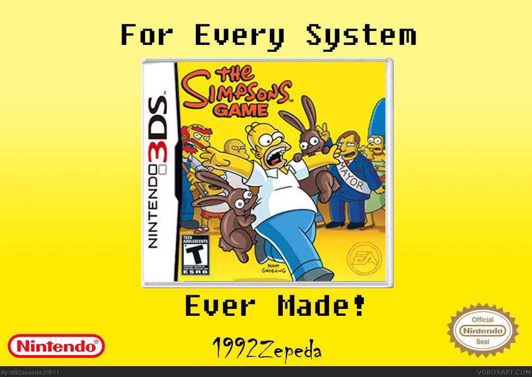The Simpsons Game Nintendo 3ds Box Art Cover By 1992zepeda