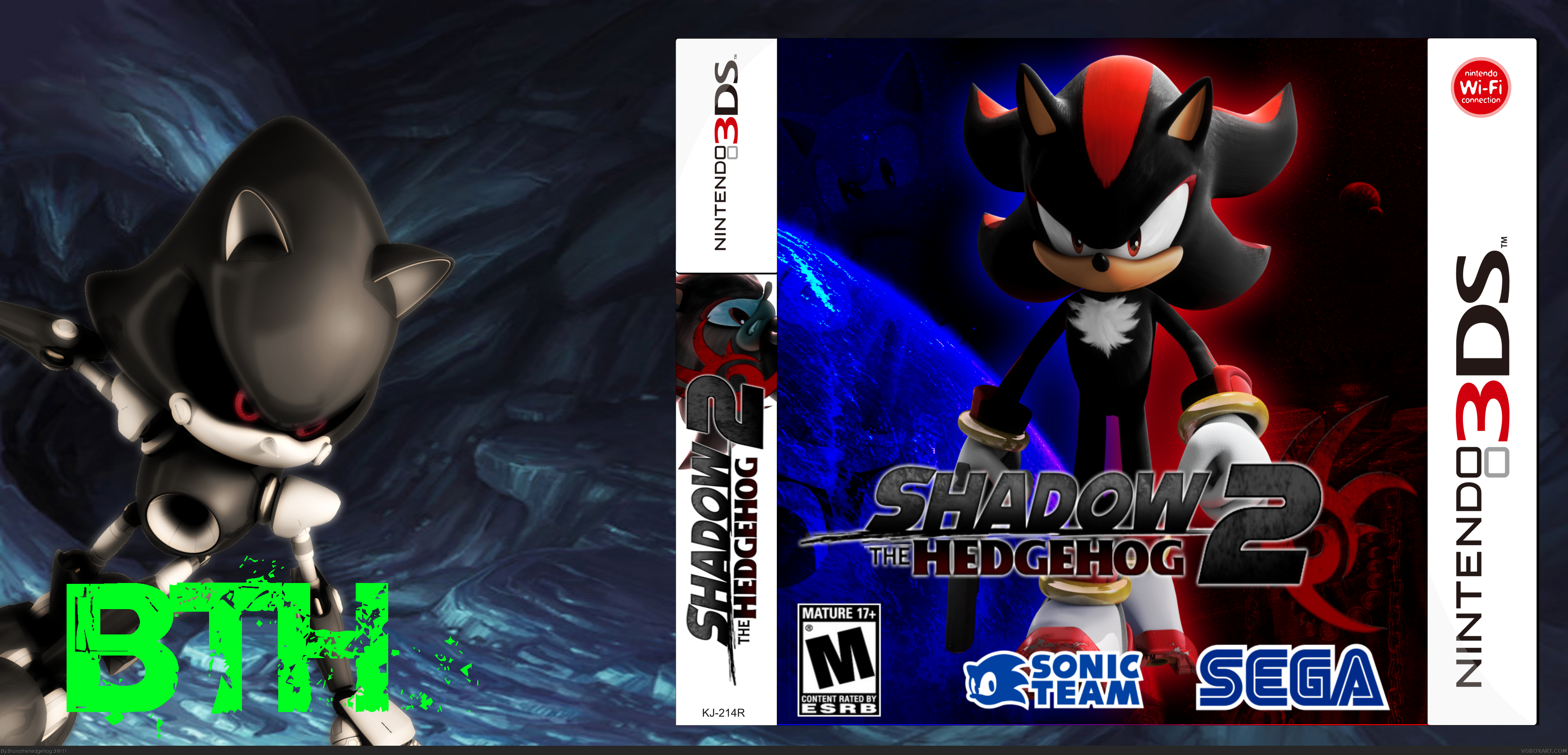 Viewing full size Shadow the Hedgehog 2 box cover
