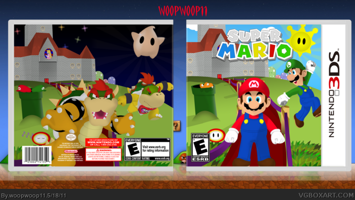 Super Mario 3D box art cover