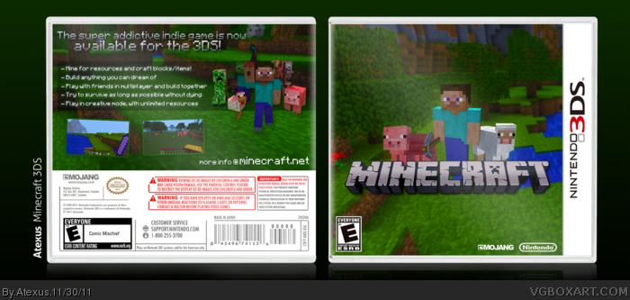 Nintendo 3DS » Minecraft Box Cover