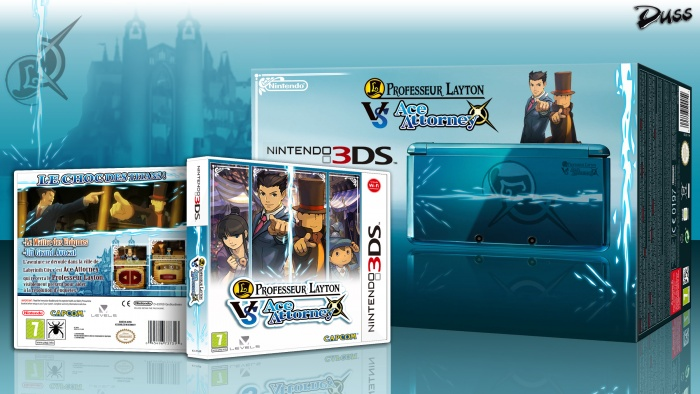 Professeur Layton VS Ace Attorney box art cover