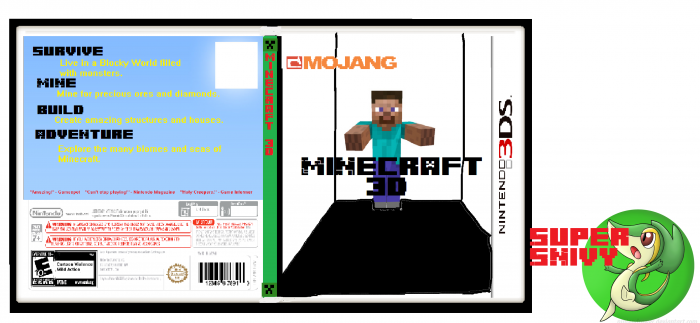 Minecraft 3D box art cover