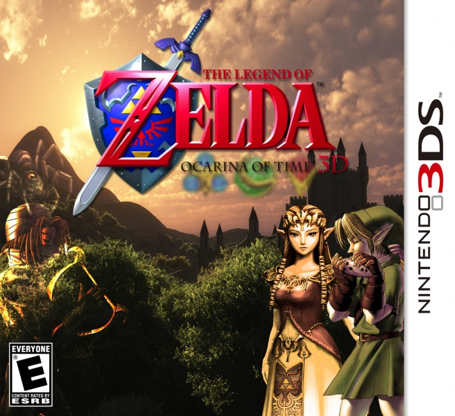 The Legend of Zelda: Ocarina of Time 3D box art cover